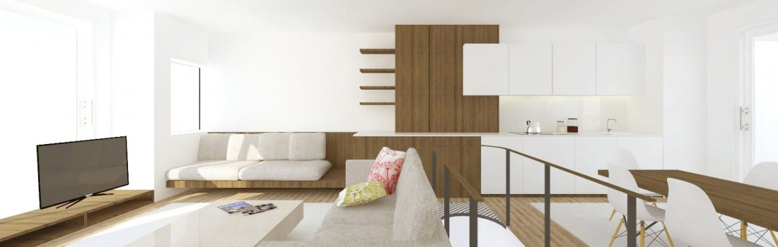 A MODERN LAYOUT FOR WHITE PENTHOUSE IN SITGES BARCELONA